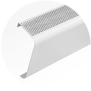 Veil Titan Baseboard Heater Cover - 4-ft - Satin White Aluminum