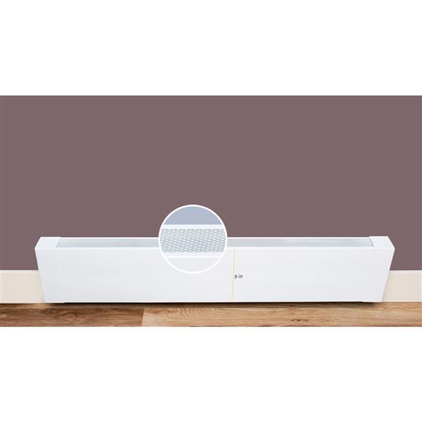 Veil Atlas XL Baseboard Heater Cover - 8-ft - Satin White Aluminum