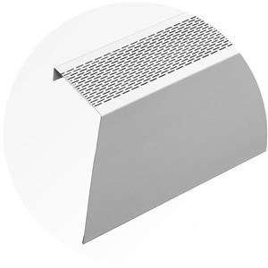 Veil Atlas XL Baseboard Heater Cover - 8-ft - Satin White Aluminum