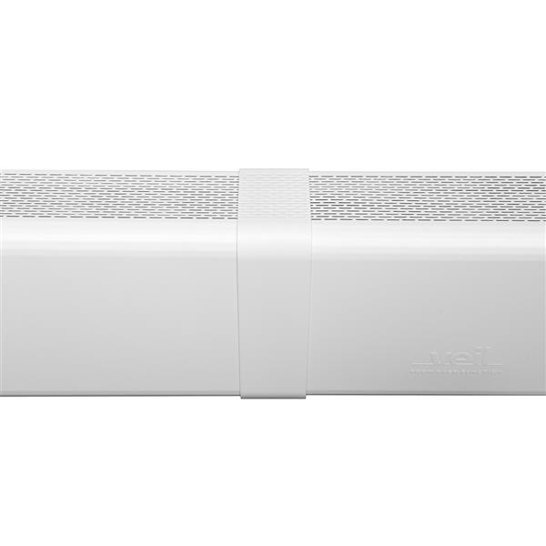 Veil Titan Baseboard Heater Cover - Coupler - 2-3/4-in - Satin White Aluminum