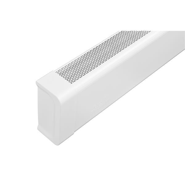 Veil Titan Baseboard Heater Cover - Left Closed Endcap - 2-3/4-in - Satin White Aluminum
