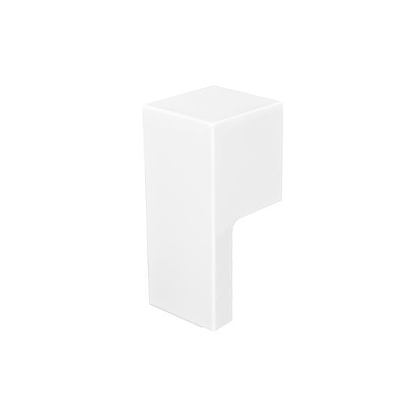 Veil Atlas Baseboard Heater Cover - Right Open Endcap - 2-3/4-in - Satin White Aluminum