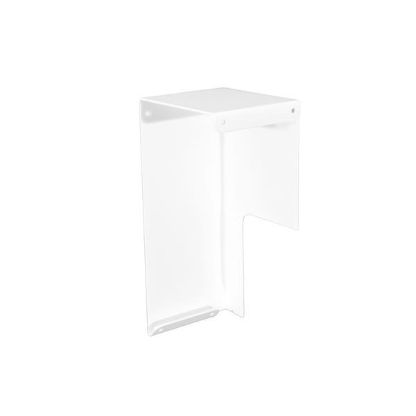 Veil Atlas Baseboard Heater Cover - Left Open Endcap - 2-3/4-in - Satin White Aluminum