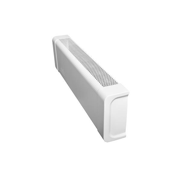 Veil Titan Baseboard Heater Cover - Right Closed Endcap - 2-3/4-in - Satin White Aluminum