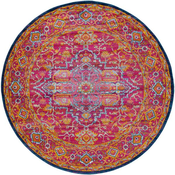 Surya Harput Updated Traditional Area Rug - 7-ft 10-in - Round - Garnet