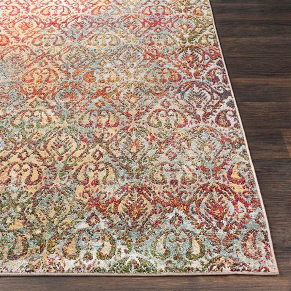 Surya Herati Updated Traditional Area Rug - 7-ft 10-in x 10-ft 6-in - Rectangular - Multi