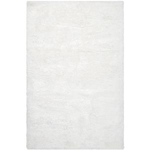 Surya Grizzly Shag Area Rug - 6-ft x 9-ft - Rectangular - White