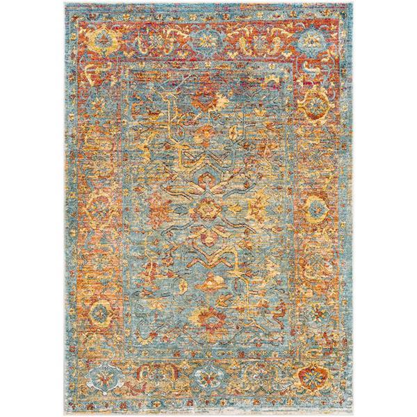 Surya Herati Updated Traditional Area Rug - 9-ft x 13-ft - Rectangular - Saffron