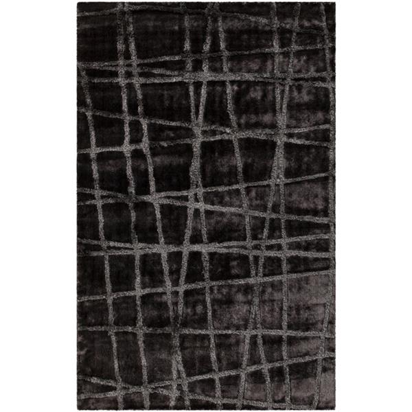 Surya Graph Modern Area Rug - 8-ft x 11-ft - Rectangular - Charcoal