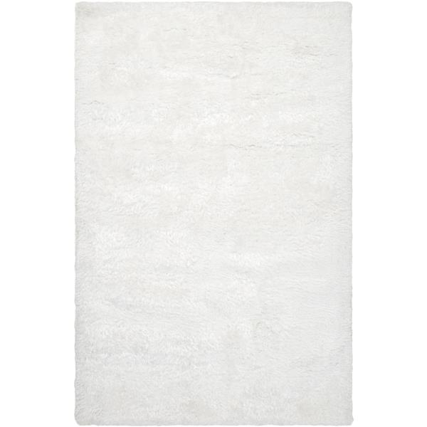 Surya Grizzly Shag Area Rug - 10-ft x 14-ft - Rectangular - White