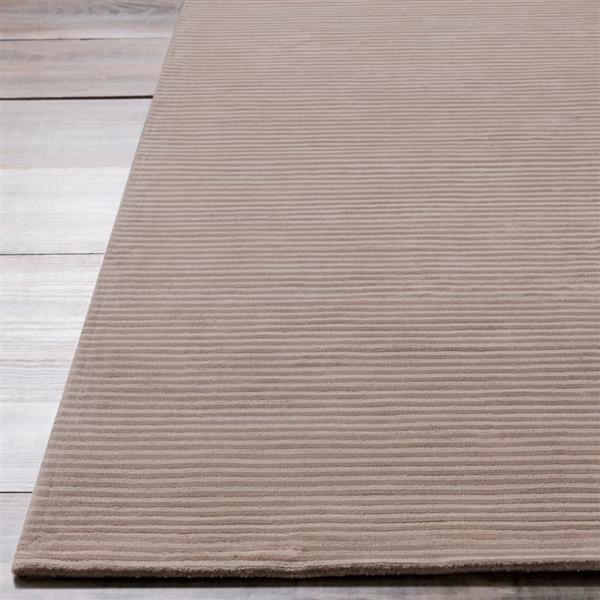Surya Graphite Solid Area Rug - 5-ft x 8-ft - Rectangular - Taupe