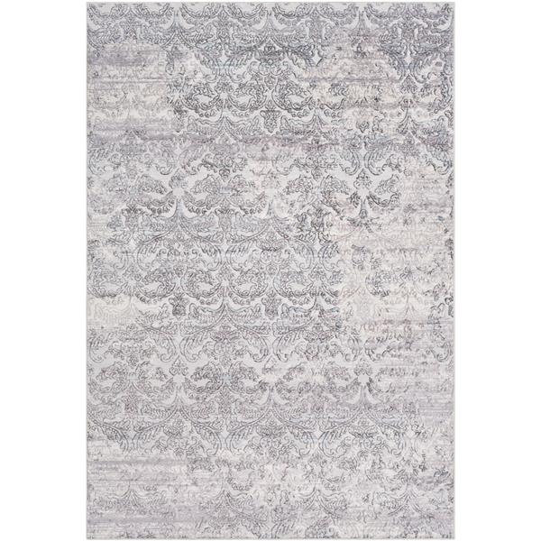 Surya Genesis Updated Traditional Area Rug - 9-ft 3-in x 12-ft 3-in - Rectangular - Silver