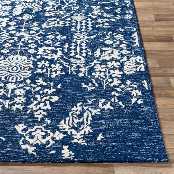 Surya Granada Modern Area Rug - 6-ft x 9-ft - Rectangular - Dark Blue