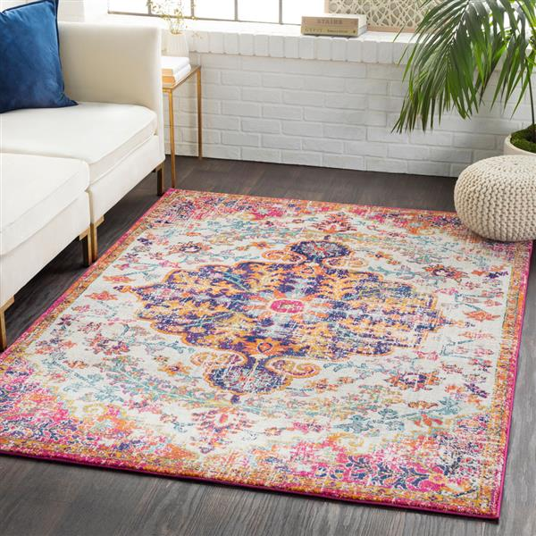 Surya Harput Updated Traditional Area Rug - 7-ft 10-in x 10-ft 3-in - Rectangular - Garnet