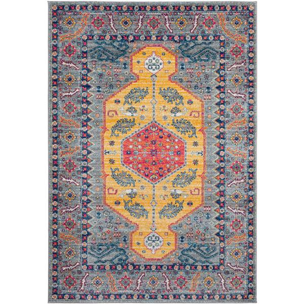 Surya Harput Updated Traditional Area Rug - 9-ft 3-in x 12-ft 6-in - Rectangular - Charcoal