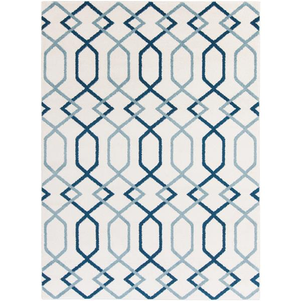 Surya Horizon Transitional Area Rug - 6-ft 7-in x 9-ft 6-in - Rectangular - Navy