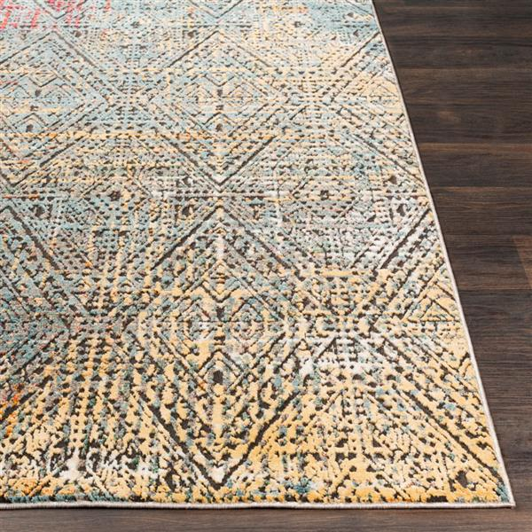 Surya Herati Updated Traditional Area Rug - 5-ft 3-in x 7-ft 3-in - Rectangular - Yellow