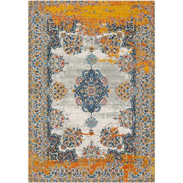 Surya Harput Updated Traditional Area Rug - 5-ft 3-in x 7-ft 3-in - Rectangular - Orange