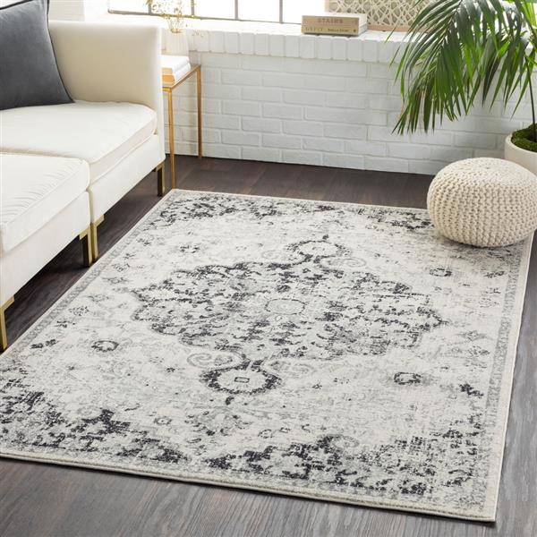 Surya Harput Updated Traditional Area Rug - 5-ft 3-in x 7-ft 3-in - Rectangular - Black