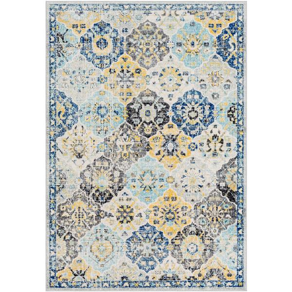Surya Harput Updated Traditional Area Rug - 7-ft 10-in x 10-ft 3-in - Rectangular - Blue