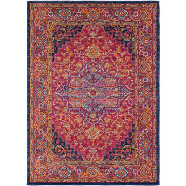 Surya Harput Updated Traditional Area Rug - 6-ft 7-in x 9-ft - Rectangular - Garnet