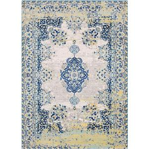 Surya Harput Updated Traditional Area Rug - 9-ft 3-in x 12-ft 6-in - Rectangular - Navy/Yellow