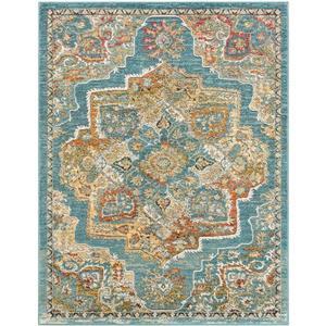 Surya Herati Updated Traditional Area Rug - 7-ft 10-in x 10-ft 6-in - Rectangular - Aqua