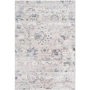 Surya Genesis Updated Traditional Area Rug - 5-ft 3-in x 7-ft 6-in - Rectangular - Silver