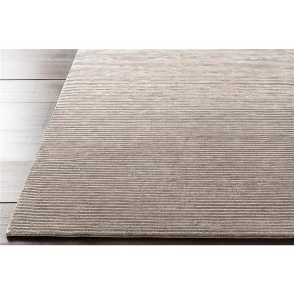 Surya Graphite Solid Area Rug - 8-ft x 11-ft - Rectangular - Gray
