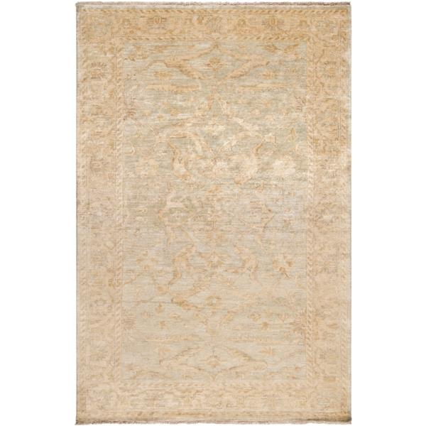 Surya Hillcrest Traditional Area Rug - 3-ft 6-in x 5-ft 6-in - Rectangular - Khaki