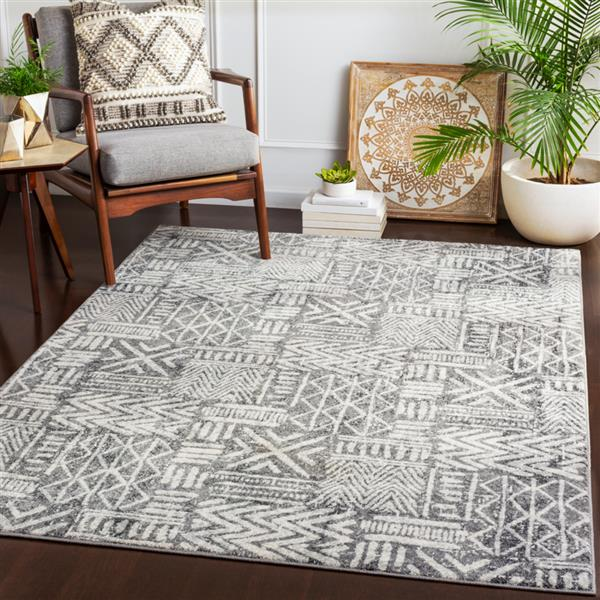 Surya Harput Transitional Area Rug - 9-ft 3-in x 12-ft 6-in - Rectangular - Charcoal