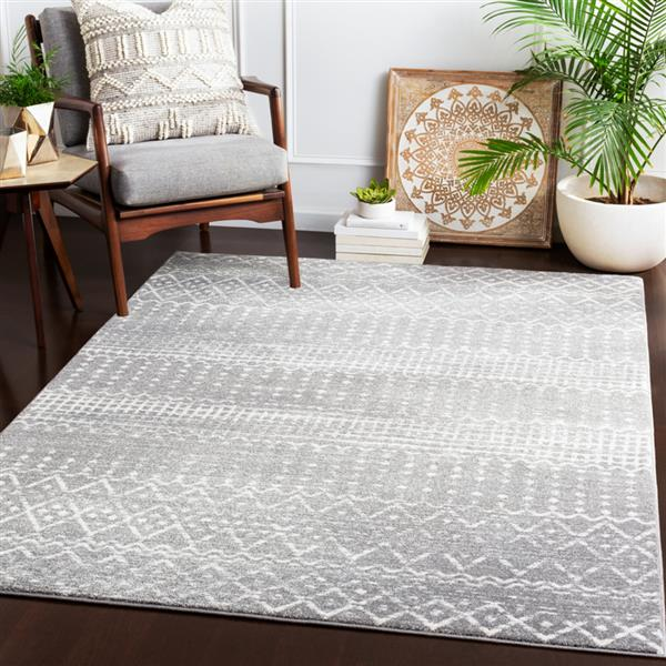 Surya Harput Transitional Area Rug - 5-ft 3-in x 7-ft 3-in - Rectangular - Charcoal
