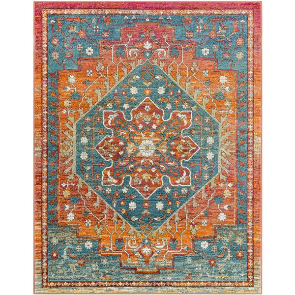 Surya Herati Updated Traditional Area Rug - 5-ft 3-in x 7-ft 3-in - Rectangular - Rust