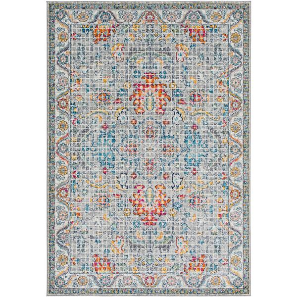 Surya Harput Updated Traditional Area Rug - 7-ft 10-in x 10-ft 3-in - Rectangular - Charcoal