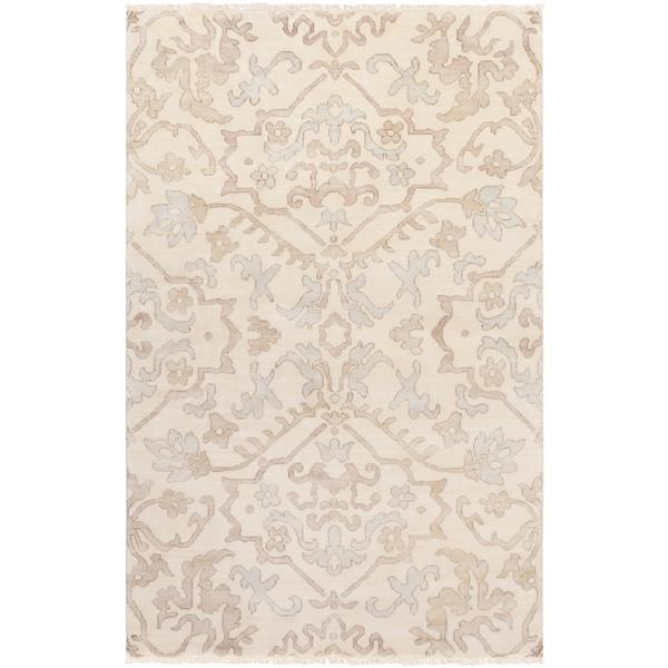 Surya Hillcrest Traditional Area Rug - 3-ft 6-in x 5-ft 6-in - Rectangular - Camel