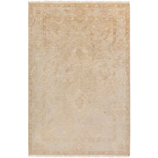 Surya Hillcrest Traditional Area Rug - 3-ft 6-in x 5-ft 6-in - Rectangular - Beige