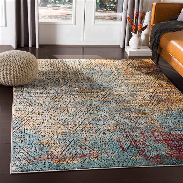 Surya Herati Updated Traditional Area Rug - 7-ft 10-in x 10-ft 6-in - Rectangular - Yellow