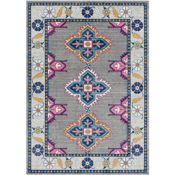 Surya Harput Updated Traditional Area Rug - 7-ft 10-in x 10-ft 3-in - Rectangular - Gray