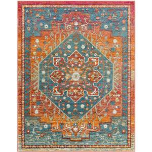 Surya Herati Updated Traditional Area Rug - 3-ft 11-in x 5-ft 11 in - Rectangular - Rust