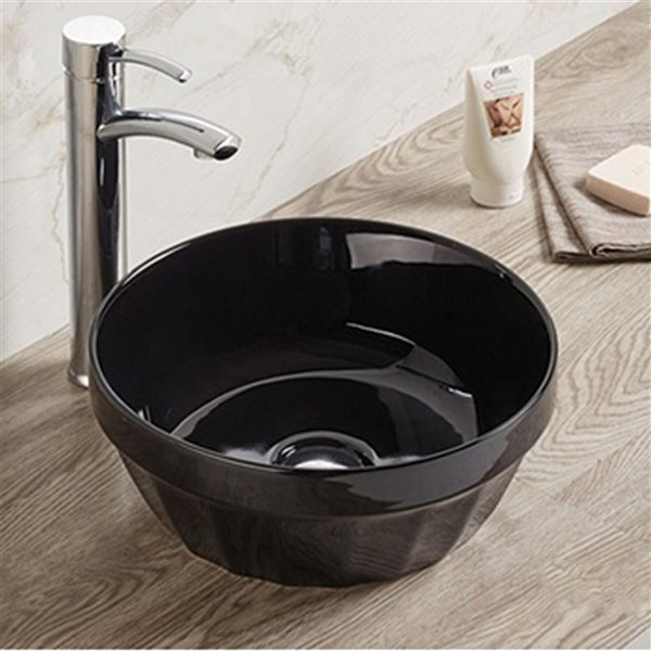 American Imaginations Bathroom Sink - without Overflow - Black