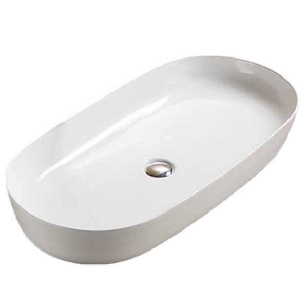 Lavabo-vasque d'American Imaginations, forme ovale, 32,09 po, blanc