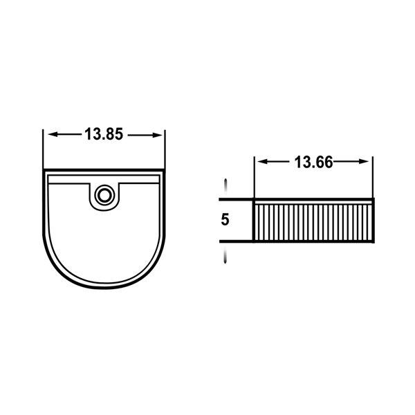 American Imaginations Vessel Bathroom Sink - Irregular Shape - 13.85-in - White