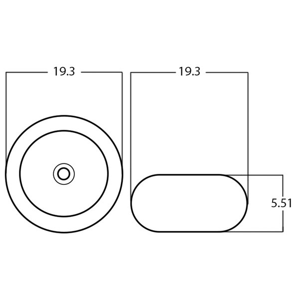 Lavabo-vasque d'American Imaginations, 19,3 po x 19,3 po, beige et blanc
