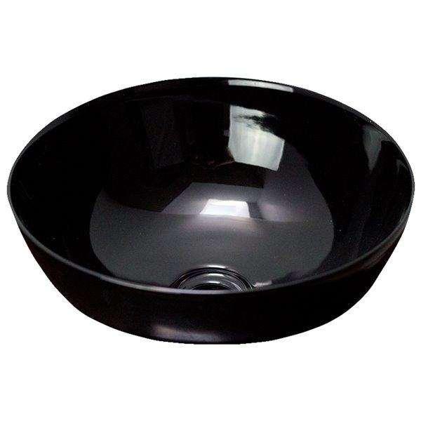 American Imaginations Vessel Bathroom Sink - without Overflow - Black