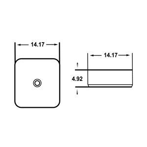 Lavabo-vasque d'American Imaginations, forme carrée, 14,17 po, blanc