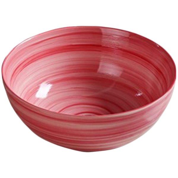 American Imaginations Vessel Bathroom Sink - Round Shape - 14.09-in - Red