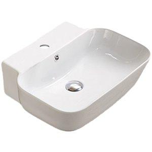 American Imaginations Wall-Mount Bathroom Sink - Rectangular Shape - 20-in x 16.14-in - White