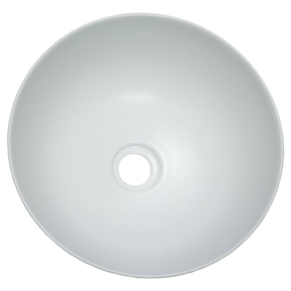 American Imaginations Vessel Bathroom Sink without Overflow - 14.09-in - White