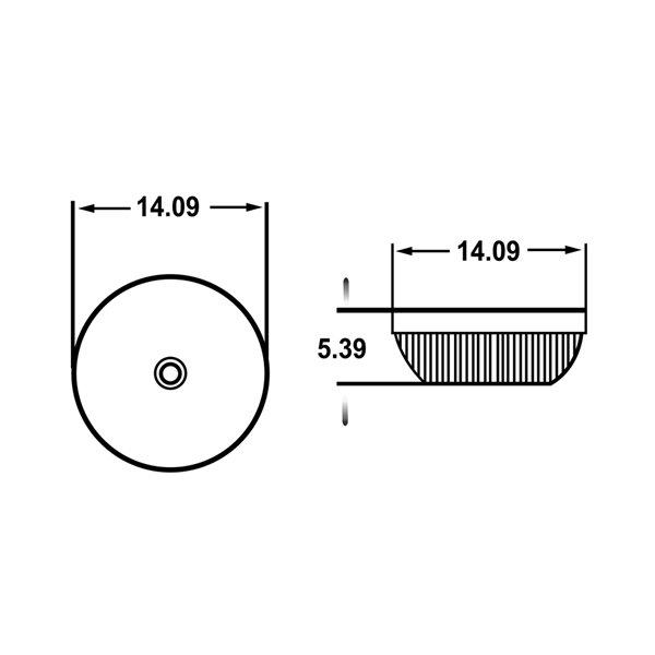 Lavabo-vasque d'American Imaginations, sans trop-plein, 14,09 po x 14,09 po, vert