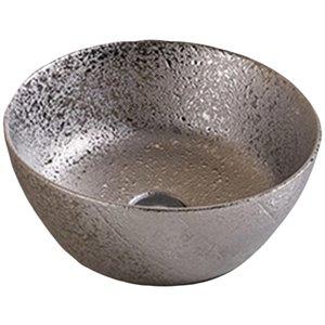 Lavabo-vasque sans trop-plein d'American Imaginations, 14,09 po, argent